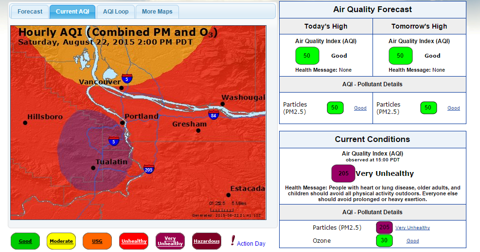 AQI unhealthy air index